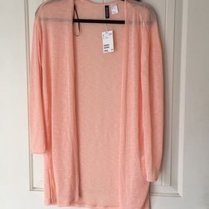 H&M peach cardigan S